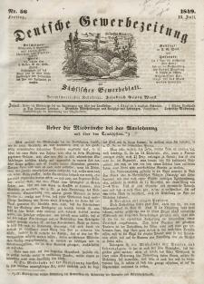 Deutsche Gewerbezeitung und Sächsisches Gewerbeblatt, Jahrg. XIV, Freitag, 13. Juli, nr 56.