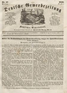 Deutsche Gewerbezeitung und Sächsisches Gewerbeblatt, Jahrg. XIV, Dienstag, 17. Juli, nr 57.