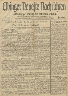 Elbinger Neueste Nachrichten, Nr. 45 Sonnabend 15 Februar 1913 65. Jahrgang