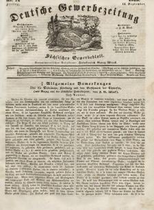Deutsche Gewerbezeitung und Sächsisches Gewerbeblatt, Jahrg. XIV, Freitag, 14. September, nr 74.
