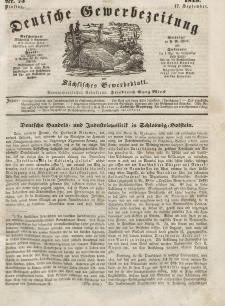 Deutsche Gewerbezeitung und Sächsisches Gewerbeblatt, Jahrg. XIV, Dienstag, 17. September, nr 75.