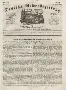 Deutsche Gewerbezeitung und Sächsisches Gewerbeblatt, Jahrg. XIV, Freitag, 21. September, nr 76.