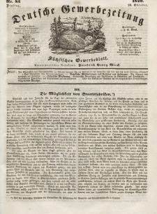 Deutsche Gewerbezeitung und Sächsisches Gewerbeblatt, Jahrg. XIV, Dienstag, 23. Oktober, nr 85.