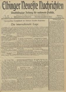 Elbinger Neueste Nachrichten, Nr. 46 Sonntag 16 Februar 1913 65. Jahrgang