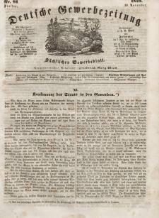Deutsche Gewerbezeitung und Sächsisches Gewerbeblatt, Jahrg. XIV, Dienstag, 13. November, nr 91.