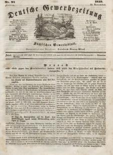 Deutsche Gewerbezeitung und Sächsisches Gewerbeblatt, Jahrg. XIV, Freitag, 23. November, nr 94.