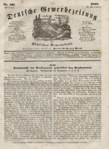 Deutsche Gewerbezeitung und Sächsisches Gewerbeblatt, Jahrg. XIV, Dienstag, 18. Dezember, nr 101.