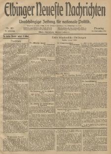 Elbinger Neueste Nachrichten, Nr. 261 Dienstag 23 September 1913 65. Jahrgang