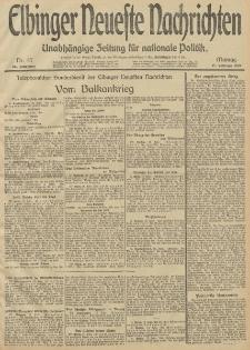 Elbinger Neueste Nachrichten, Nr. 47 Montag 17 Februar 1913 65. Jahrgang