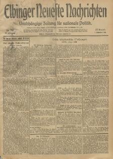 Elbinger Neueste Nachrichten, Nr. 269 Mittwoch 1 Oktober 1913 65. Jahrgang