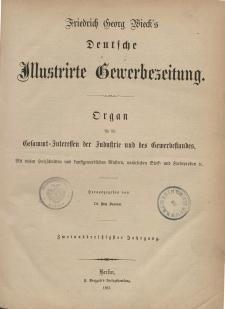Deutsche Illustrirte Gewerbezeitung. Jahrg. XXXII. (Inhalts-Verzeichniß)