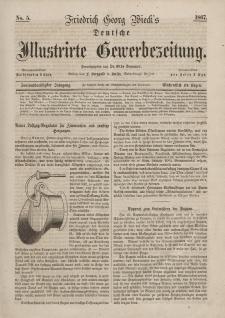 Deutsche Illustrirte Gewerbezeitung, 1867. Jahrg. XXXII, nr 5.