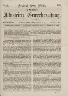 Deutsche Illustrirte Gewerbezeitung, 1867. Jahrg. XXXII, nr 10.