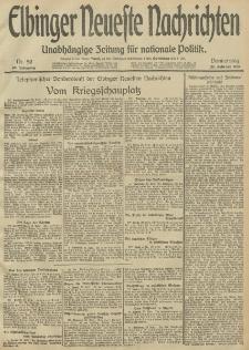 Elbinger Neueste Nachrichten, Nr. 50 Donnerstag 20 Februar 1913 65. Jahrgang