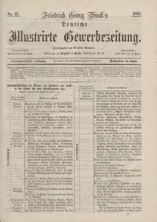 Deutsche Illustrirte Gewerbezeitung, 1867. Jahrg. XXXII, nr 27.
