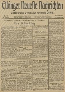 Elbinger Neueste Nachrichten, Nr. 52 Sonnabend 22 Februar 1913 65. Jahrgang