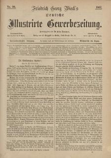 Deutsche Illustrirte Gewerbezeitung, 1867. Jahrg. XXXII, nr 36.