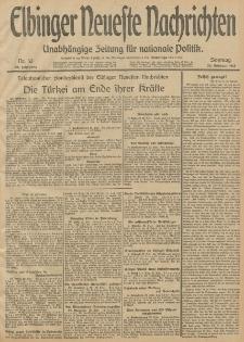 Elbinger Neueste Nachrichten, Nr. 53 Sonntag 23 Februar 1913 65. Jahrgang