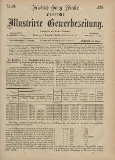 Deutsche Illustrirte Gewerbezeitung, 1867. Jahrg. XXXII, nr 43.
