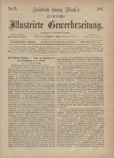Deutsche Illustrirte Gewerbezeitung, 1867. Jahrg. XXXII, nr 51.