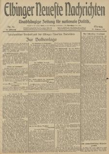 Elbinger Neueste Nachrichten, Nr. 54 Montag 24 Februar 1913 65. Jahrgang