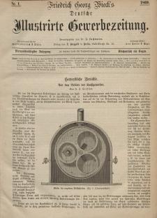 Deutsche Illustrirte Gewerbezeitung, 1869. Jahrg. XXXIV, nr 1.