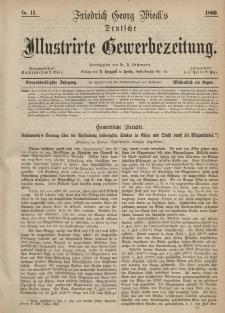 Deutsche Illustrirte Gewerbezeitung, 1869. Jahrg. XXXIV, nr 11.