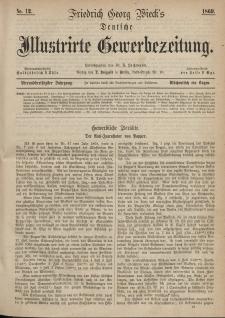 Deutsche Illustrirte Gewerbezeitung, 1869. Jahrg. XXXIV, nr 12.