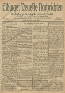 Elbinger Neueste Nachrichten, Nr. 274 Montag 6 Oktober 1913 65. Jahrgang