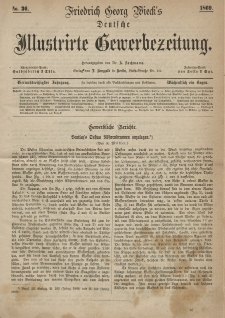 Deutsche Illustrirte Gewerbezeitung, 1869. Jahrg. XXXIV, nr 36.