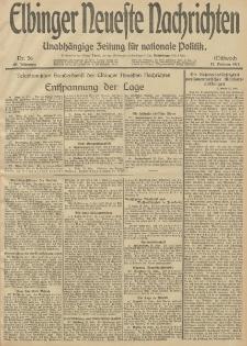 Elbinger Neueste Nachrichten, Nr. 56 Mittwoch 26 Februar 1913 65. Jahrgang