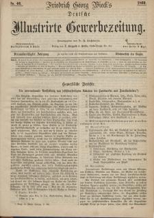 Deutsche Illustrirte Gewerbezeitung, 1869. Jahrg. XXXIV, nr 46.