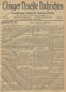 Elbinger Neueste Nachrichten, Nr. 275 Dienstag 7 Oktober 1913 65. Jahrgang