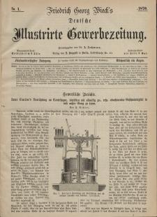 Deutsche Illustrirte Gewerbezeitung, 1870. Jahrg. XXXV, nr 1.
