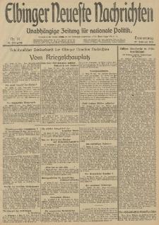 Elbinger Neueste Nachrichten, Nr. 57 Donnerstag 27 Februar 1913 65. Jahrgang