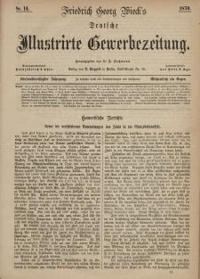 Deutsche Illustrirte Gewerbezeitung, 1870. Jahrg. XXXV, nr 14.