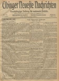 Elbinger Neueste Nachrichten, Nr. 276 Mittwoch 8 Oktober 1913 65. Jahrgang