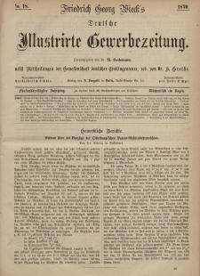 Deutsche Illustrirte Gewerbezeitung, 1870. Jahrg. XXXV, nr 18.