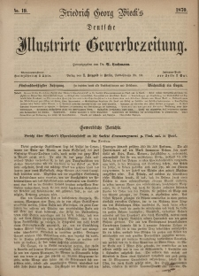 Deutsche Illustrirte Gewerbezeitung, 1870. Jahrg. XXXV, nr 19.