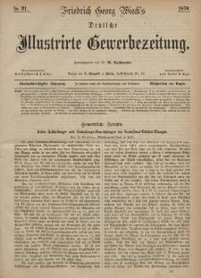 Deutsche Illustrirte Gewerbezeitung, 1870. Jahrg. XXXV, nr 21.