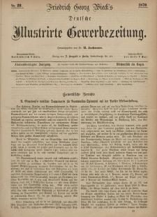 Deutsche Illustrirte Gewerbezeitung, 1870. Jahrg. XXXV, nr 29.