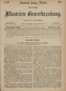 Deutsche Illustrirte Gewerbezeitung, 1870. Jahrg. XXXV, nr 32.