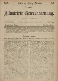 Deutsche Illustrirte Gewerbezeitung, 1870. Jahrg. XXXV, nr 33.