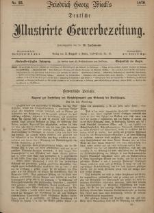 Deutsche Illustrirte Gewerbezeitung, 1870. Jahrg. XXXV, nr 35.