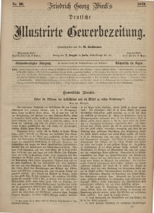Deutsche Illustrirte Gewerbezeitung, 1870. Jahrg. XXXV, nr 36.