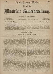 Deutsche Illustrirte Gewerbezeitung, 1870. Jahrg. XXXV, nr 37.