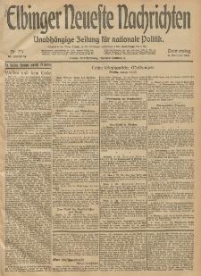 Elbinger Neueste Nachrichten, Nr. 277 Donnerstag 9 Oktober 1913 65. Jahrgang