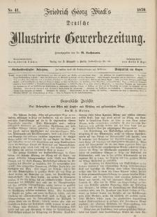 Deutsche Illustrirte Gewerbezeitung, 1870. Jahrg. XXXV, nr 41.