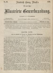 Deutsche Illustrirte Gewerbezeitung, 1870. Jahrg. XXXV, nr 42.