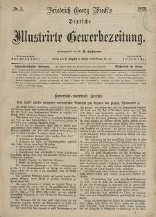 Deutsche Illustrirte Gewerbezeitung, 1873. Jahrg. XXXVIII, nr 1.